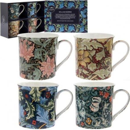 William Morris Set 4 Mugs