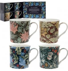 Bring a vintage inspired feel to any kitchen with these fabulously finished William Morris printed mugs