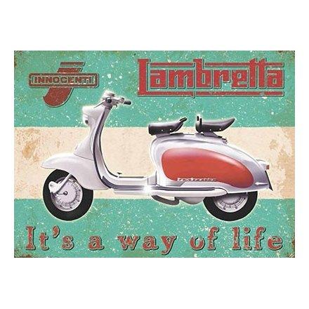 Lambretta Way of Life Metal Sign