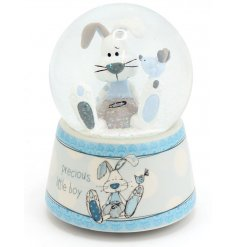 A large blue rabbit design musical waterball