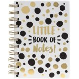 A glamorous black and gold slogan notebook. A great gift and stationery item.
