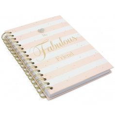 A pretty and chic notebook with a diamante heart detail. A lovely gift for that fabulous friend.