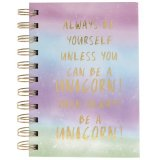 Scribble down your dreams and big ideas in this fabulous Unicorn slogan notebook.