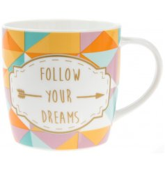 With their bright colours and popular quote, this mug is a great gift idea for any tea drinker