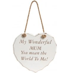A sweet and chic inspired hanging heart plaque