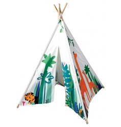 A 154cm play teepee with in the jungle design