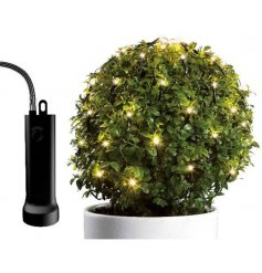 A twinkling net of LED for your Buxus Ball