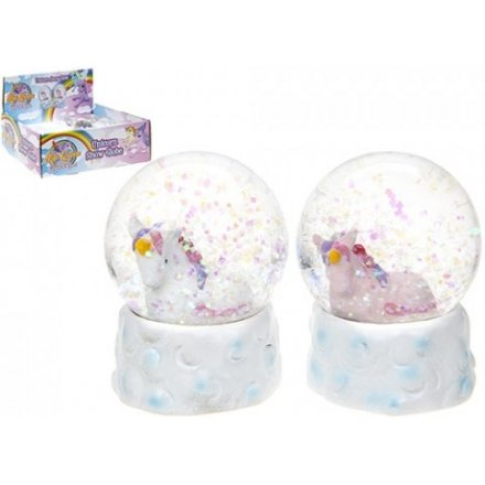 Unicorn Glitter Snowglobe, 2 assorted 6cm