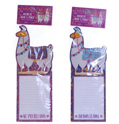 Add a sassy touch to your stationary sets with these Llama themed notepads