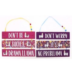 Add a colourfully creative twist to your decor with this funky assortment of wooden wall plaques