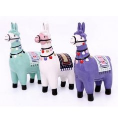 Bring a Southern American vibe to your home spaces with these quirky colourful llama ornaments