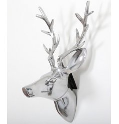 Chic silver wall hanging ornament in a popular Deer head design