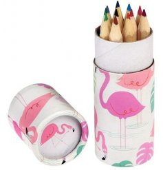 Get creative and colourful with these funky flamingo themed pencil sets from REX international