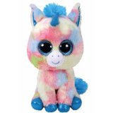 Cuddly unicorn Beanie Boo soft toy from the TY range