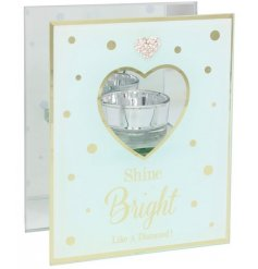 With its popular Mad Dots diamonte heart and script ' Shine bright like a diamond '