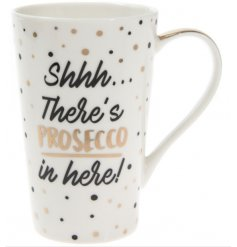 This stylish gold and black themed latte mug is the perfect way to have your morning coffee (or Prosecco)
