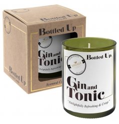 Let the tasty smell of a freshly poured Gin & Tonic seep into your home spaces with this vintage chic candle