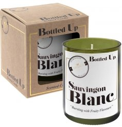 Let the tasty smell of a freshly poured Sauvignon Blanc seep into your home spaces with this vintage chic candle