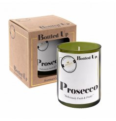 Let the tasty smell of a freshly poured Prosecco seep into your home spaces with this vintage chic candle