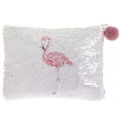 Add a fun glittery touch to any shopping spree with this changeable sequin coin purse