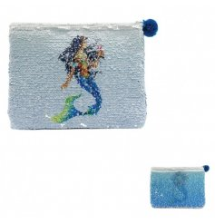 Add a sparkling sequin touch to your handbag with this glam mermaid inspired coin purse
