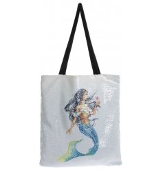 Add a glitzy sparkle touch to your home with this chic sequin shopper bag