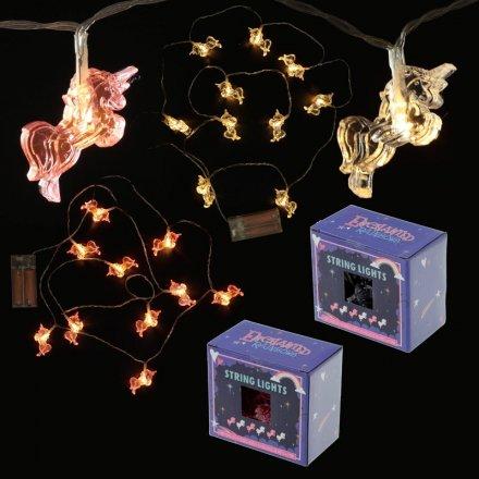 2 Assorted Unicorn shaped LED light garlands