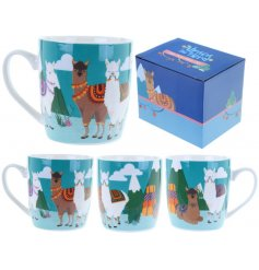 This funky bone china mug will make a great gift idea for any chilled out Alpaca loving friend