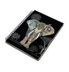 An A6 elephant design notebook
