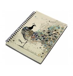 An A6 peacock design notebook