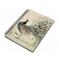 An A6 peacock pattern notebook