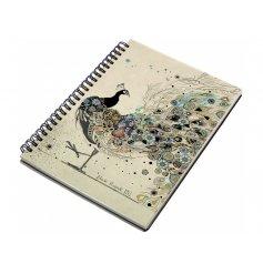 An A5 peacock design notebook