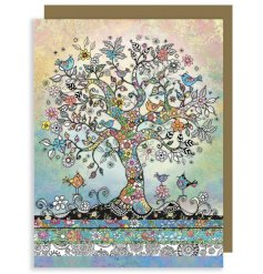 Add a bright and colourful dash to your greetings with this sleek patterned card