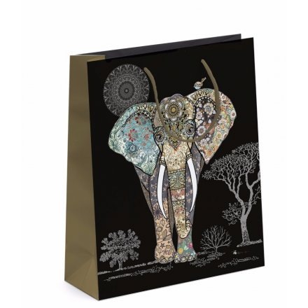 Detailed Elephant Gift Bag - Small