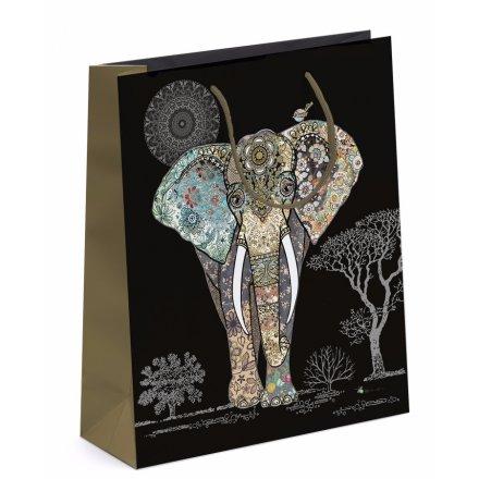 Detailed Elephant Gift Bag - Medium