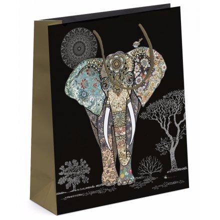 Detailed Elephant Gift Bag - Large