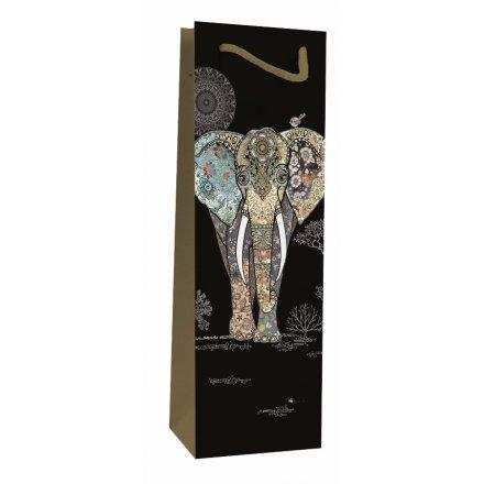 Detailed Elephant Bottle Bag