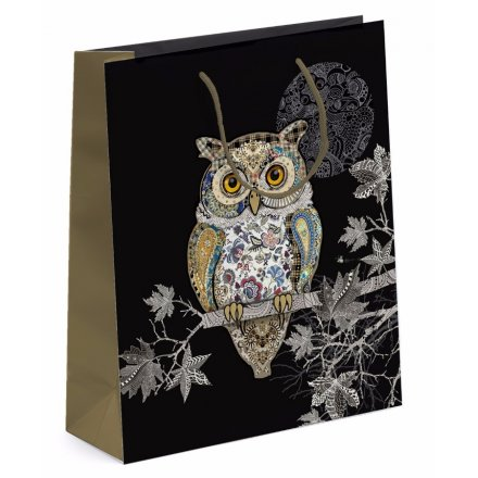 Detailed Owl Gift Bag - Small
