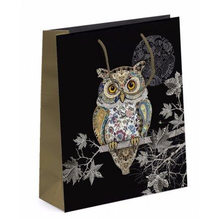 Detailed Owl Gift Bag - Medium