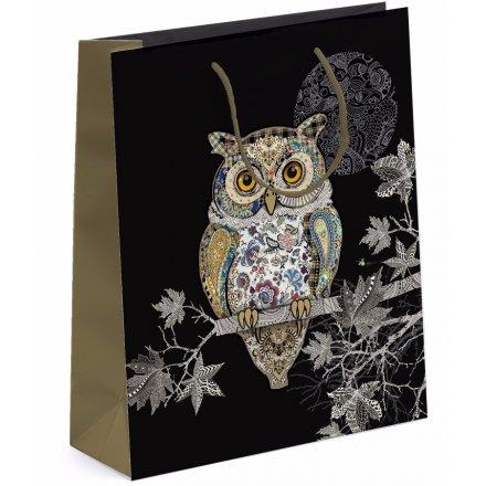 Detailed Owl Gift Bag - Large