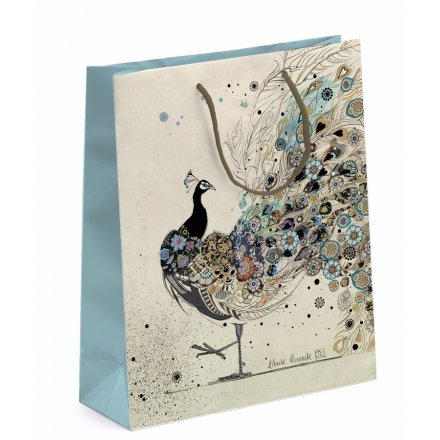 Elegant Peacock Gift Bag - Small
