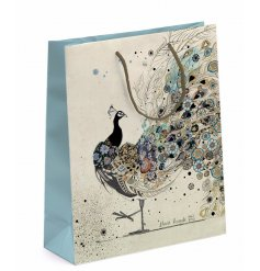 Bring an intricate touch to your gift giving with this elegantly finished gift bag