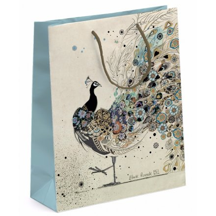 Elegant Peacock Gift Bag - Large