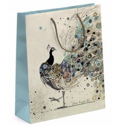 Add a touch of elegance to your gift giving with this beautifully finished gift bag