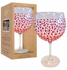 A beautiful new line of hand decorated stemmed Gin Glasses,