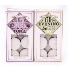 Bring a fun Gin inspired tone to your home with these assorted packed gin tlights