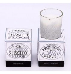 Bring a glittery touch to any home decor with these ombre silver and white glittered candle pots
