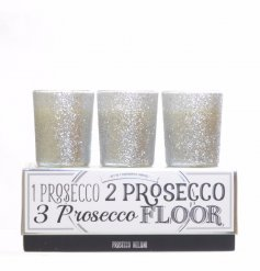 2 assorted prosecco candle pots, box of 3
