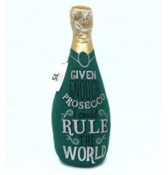 Add a prosecco touch to any home space with this bottle themed doorstop