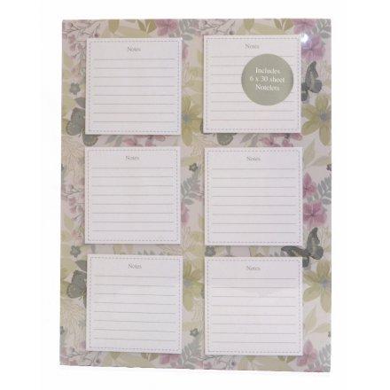 Les Fleur Magnetic Notepad Set